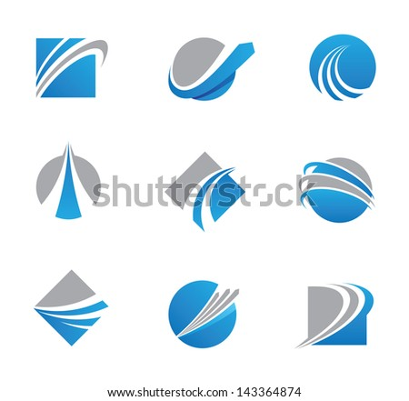 abstract trail symbols and icons - stock vector