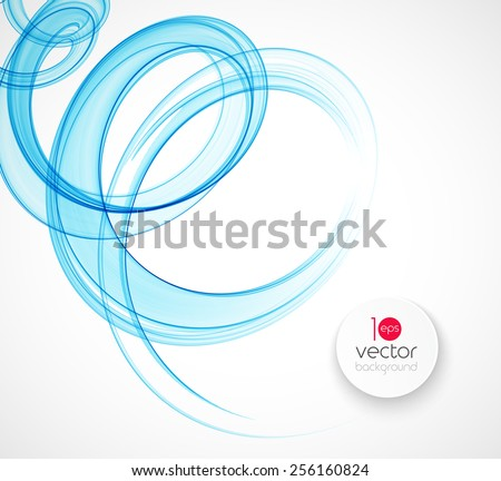 Abstract transparent fractal wave template  background brochure design - stock vector