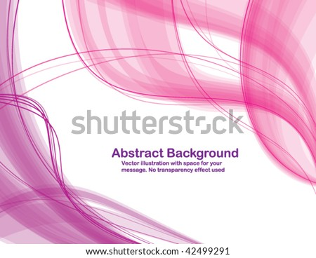 Abstract transparent waves on white background. Vector illustration. - stock vector