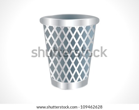 abstract trash icon vector illustration - stock vector