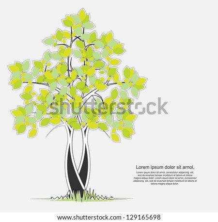 abstract tree background - stock vector