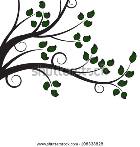 abstract tree branch - stock vector