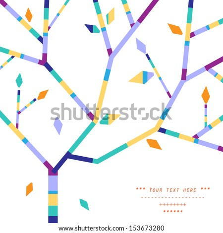 Abstract tree branches - stock vector