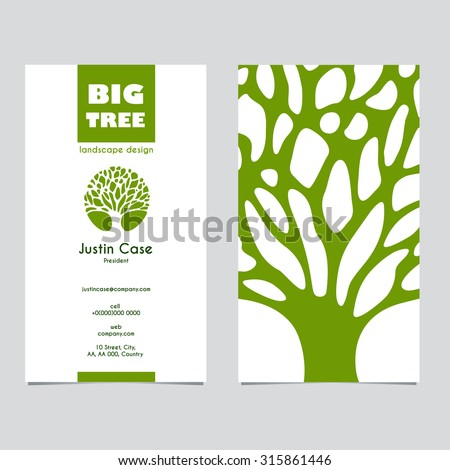 Abstract tree sign business card vector stock vector 315861446 abstract tree sign business card vector template vector icon corporate identity template for reheart Images