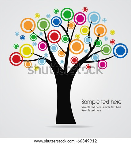 abstract tree template - stock vector