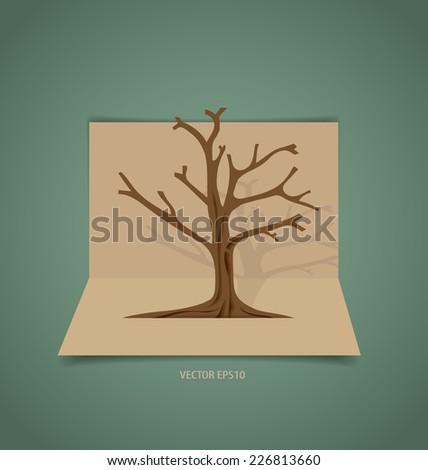 Abstract tree, vector illustration. - stock vector