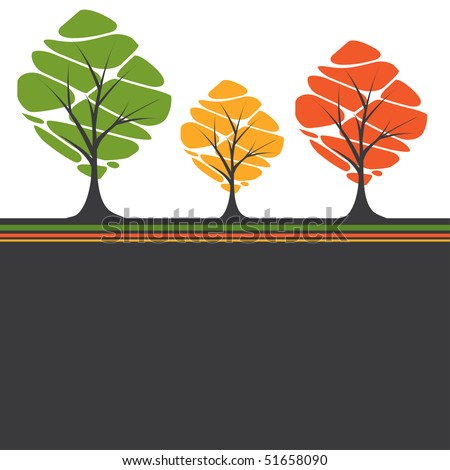 Abstract tree. vector illustration - stock vector