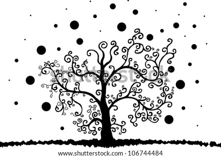 Abstract Tree Wall Decal - stock vector