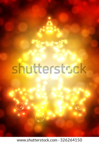 abstract tree with bokeh - stock vector