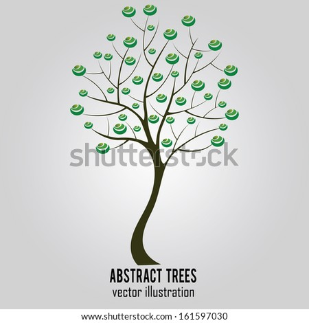 abstract tree with special leaf on special background