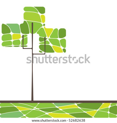 Abstract trees. vector illustration - stock vector