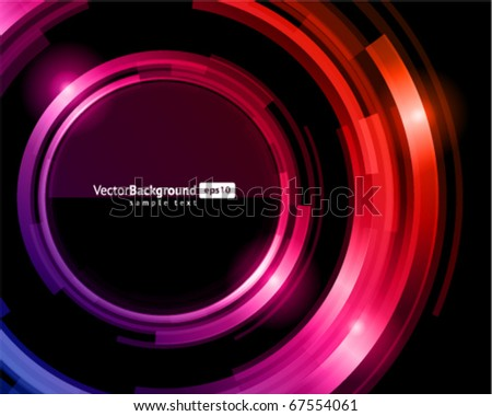 Abstract trendy retro technology glass shiny circles vector background - stock vector