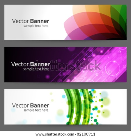 Abstract trendy vector banner or header set eps 10 - stock vector