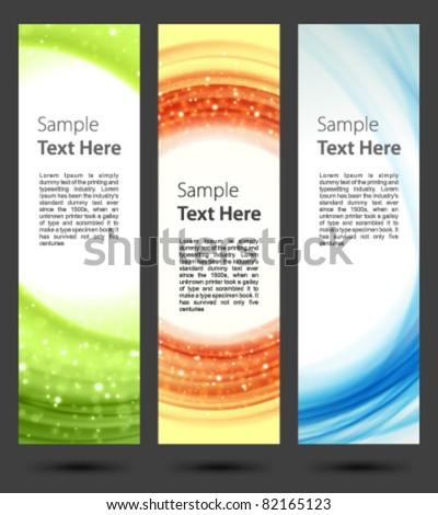 Abstract trendy vector banner vertical set eps 10 - stock vector