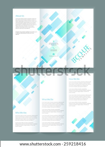 Abstract Tri Fold Business Brochure Template Stock Vector 259218416