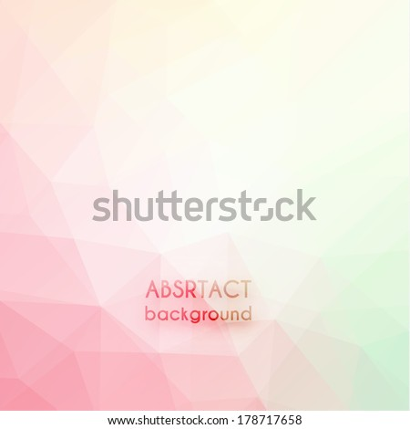 Abstract triangle art in pastel colors - eps10 - stock vector
