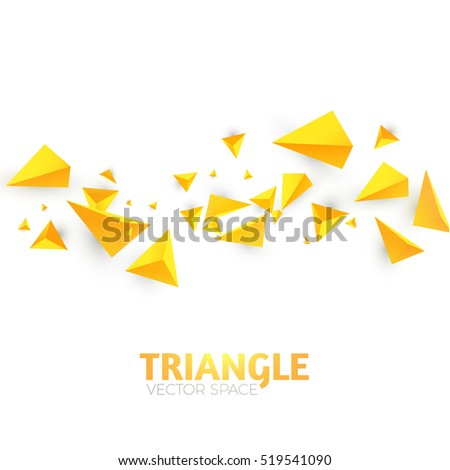 Abstract Triangle Background. 3D Triangles. Polygonal Wave Backdrop. Vector illustration