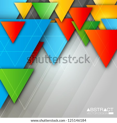 Abstract Triangle Background - EPS10 Vector Design Concept - stock vector
