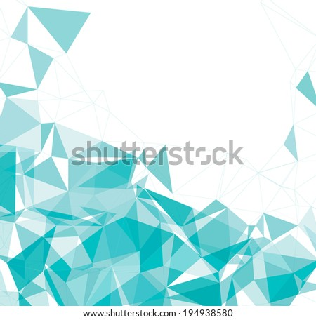 Abstract triangle background, vector illustration  - stock vector