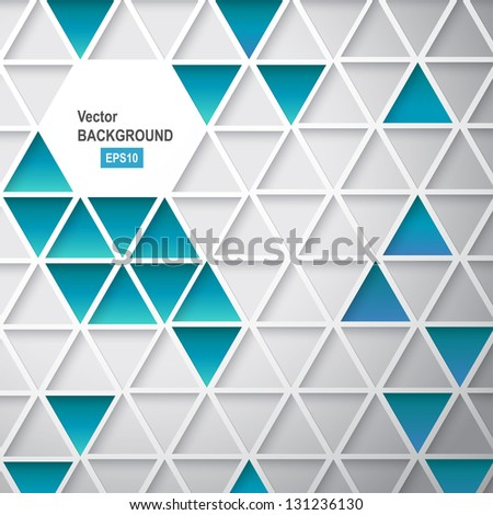 Abstract triangle background. Vector illustration, contains transparencies, gradients and effects. - stock vector