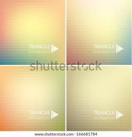 Abstract triangle backgrounds set - eps10 - stock vector