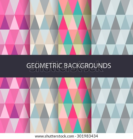 Abstract triangle backgrounds set.Vector Illustration - EPS10