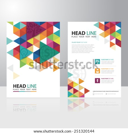 Abstract Triangle Business Brochure Flyer design vector template - stock vector