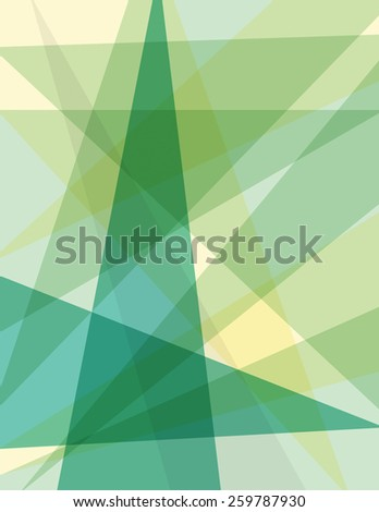 Abstract triangle geometric green and yellow background - stock vector