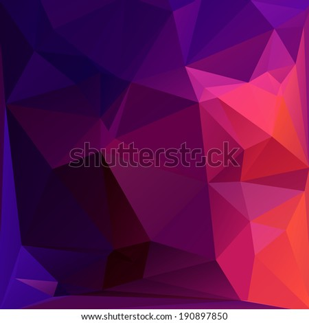 Abstract triangle geometric vector background - stock vector