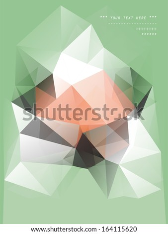 Abstract Triangle Geometrical Multicolored Background, Vector  - stock vector
