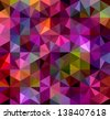 Abstract Triangle Geometrical Multicolored Background, Vector Illustration - stock