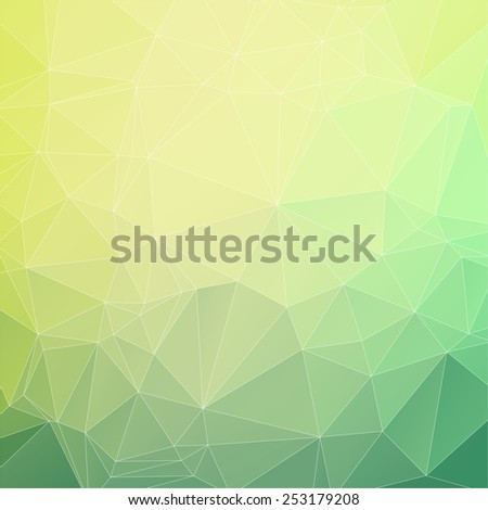 Abstract triangle mosaic gradient colorful background - stock vector