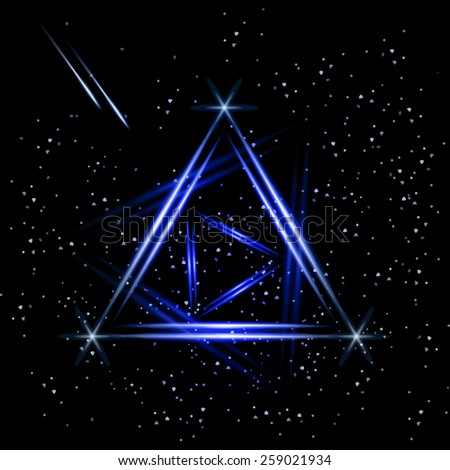 Abstract triangle night background. Vector.