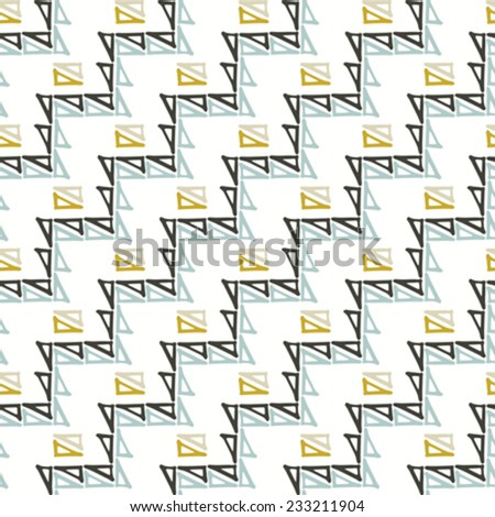 Abstract triangle ornament diagonal background. Seamless pattern. Vector.  - stock vector