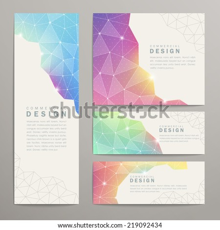 abstract triangle pattern background advertising banner template - stock vector
