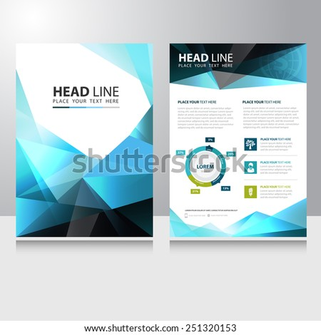 Abstract Triangle Polygon Business Brochure Flyer design vector template