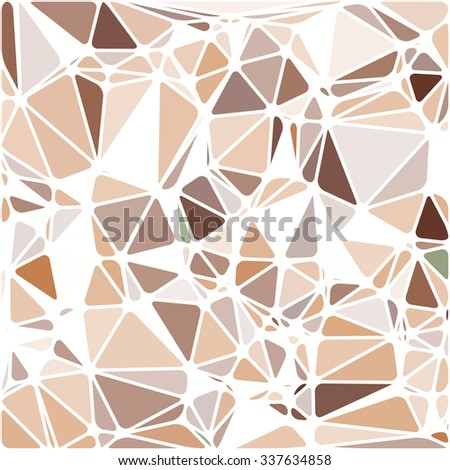 Abstract Triangle Polygonal Geometrical Background, Vector Illustration EPS10. Geometric design frame for business presentations, flyers, banners, brochures, leaflets, web. Chocolate brown - stock vector