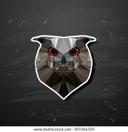 abstract triangle polygonal owl abstract triangle polygonal - stock vector