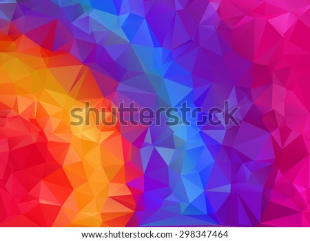 Abstract triangle rainbow color texture background - stock vector