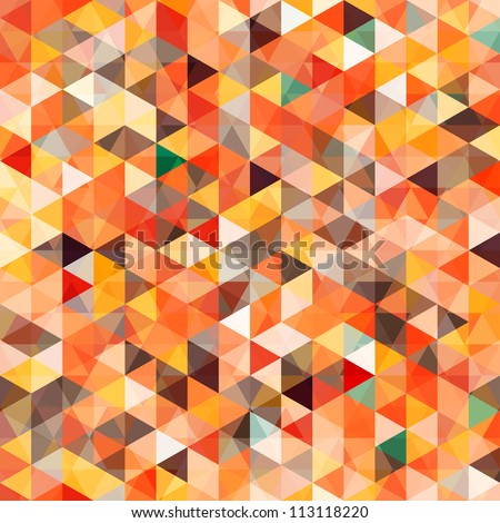 abstract triangle seamless - stock vector