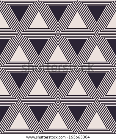 Abstract triangle seamless pattern background - stock vector