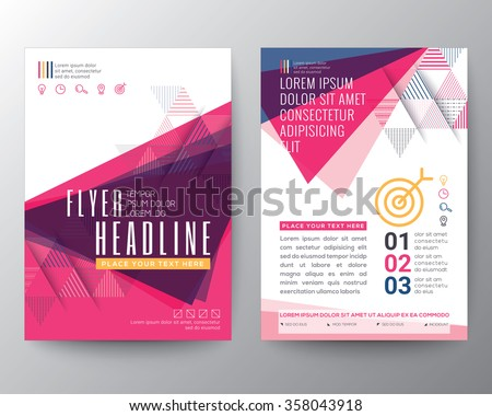 Abstract Triangle shape Poster Brochure Flyer design Layout vector template in A4 size - stock vector