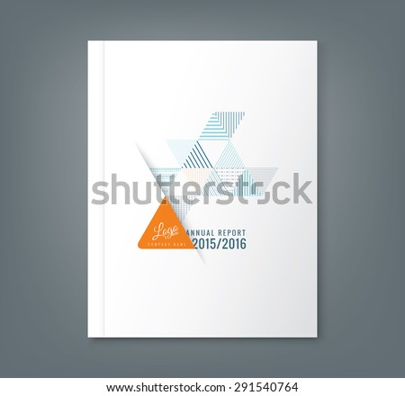 Abstract triangle stripe shape background for business annual report book cover brochure flyer poster - stock vector