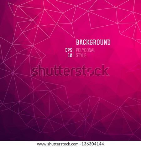 Abstract triangle vector background. Vector Illustration, eps10, contains transparencies. - stock vector