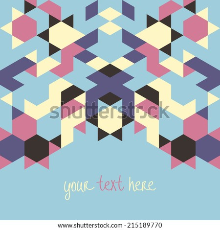 Abstract triangle vector geometric background.Vector illustration with space for your text