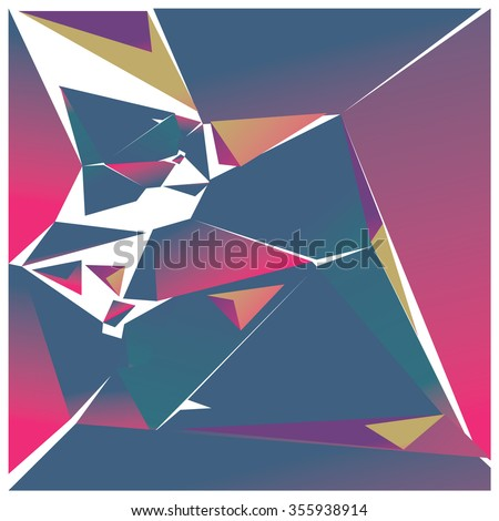 Abstract triangles background pattern illustration