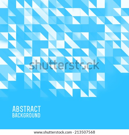 Abstract triangles background vector - stock vector