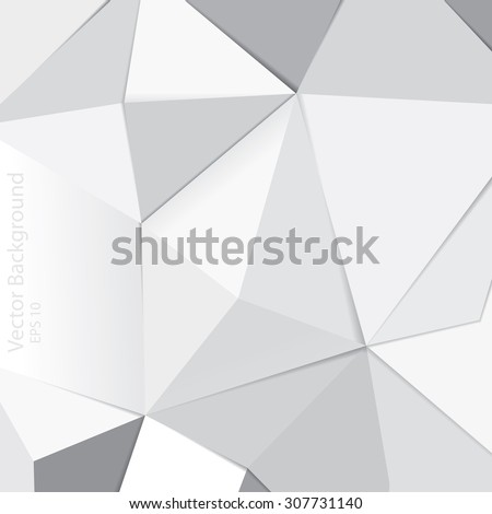 Abstract triangles vector background. - stock vector