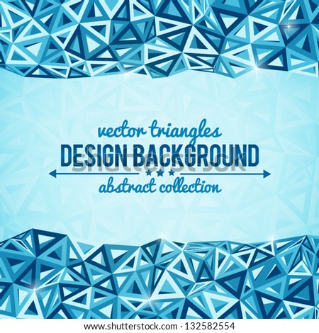 Abstract triangles vector background with place for your text - stock vector