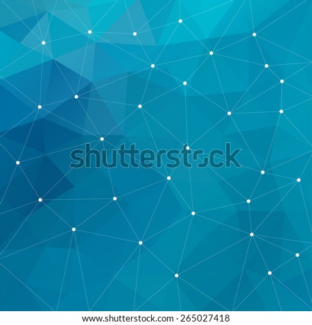 Abstract triangular blue background. Vector design EPS10 - stock vector
